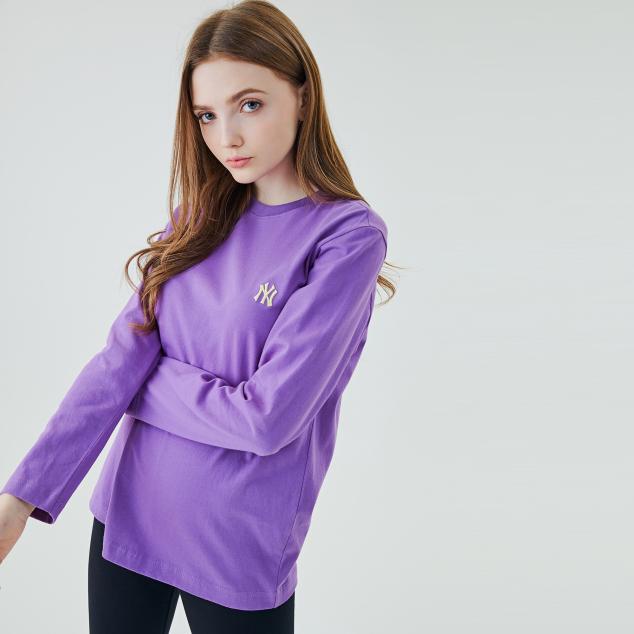 호두자수 긴팔 티셔츠 뉴욕양키스