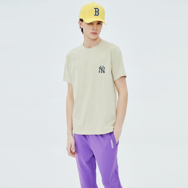 로고 프린팅 반팔 티셔츠 뉴욕양키스