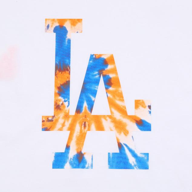 워터컬러 빅로고 오버핏 반팔 티셔츠 LA다저스