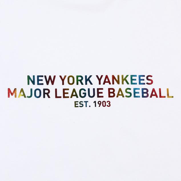 레인보우 헤리티지 오버핏 반팔 티셔츠 뉴욕양키스
