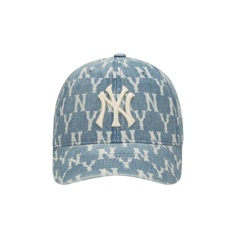 엠엘비(MLB) 모노그램 데님 볼캡 NY (BLUE)