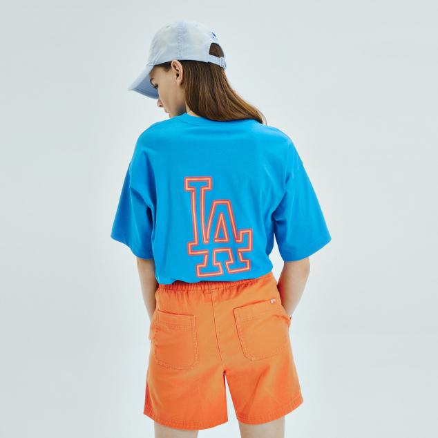 네온아트 빅로고 오버핏 반팔 티셔츠 뉴욕양키스