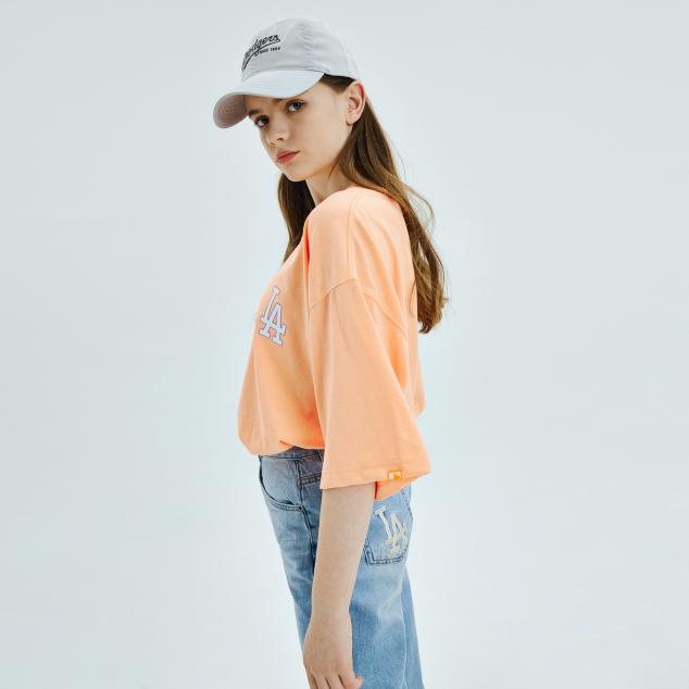 네온아트 베이직 오버핏 반팔 티셔츠 LA다저스
