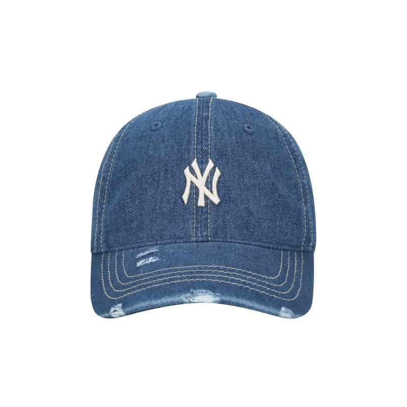 엠엘비(MLB) 데님 데미지 볼캡 NY (BLUE)