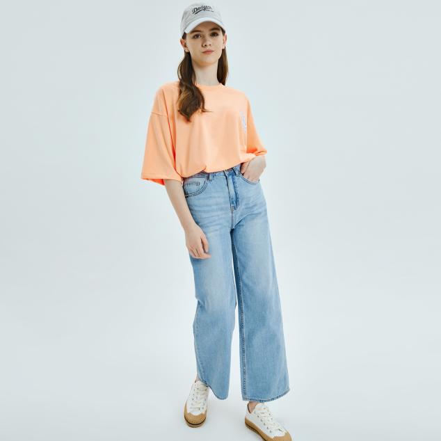 네온아트 베이직 오버핏 반팔 티셔츠 뉴욕양키스