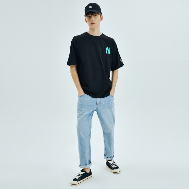 네온아트 쿠퍼스 오버핏 반팔 티셔츠 LA다저스