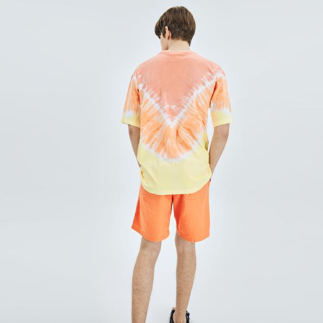타이다이 브이라인 오버핏 반팔 티셔츠 LA다저스