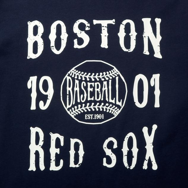 포스터 그래픽 긴팔 티셔츠 보스턴 레드삭스
