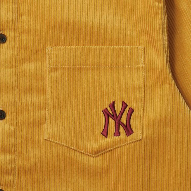 코듀로이 포켓로고 셔츠 뉴욕양키스