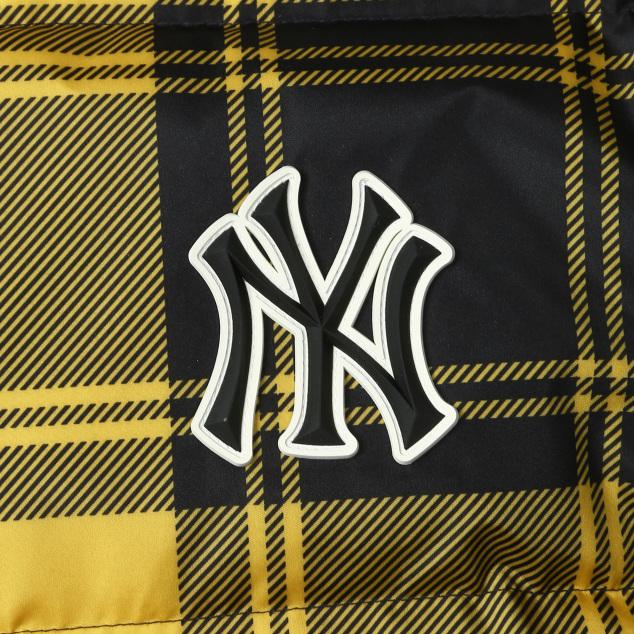 체크 베이스 숏패딩 뉴욕양키스