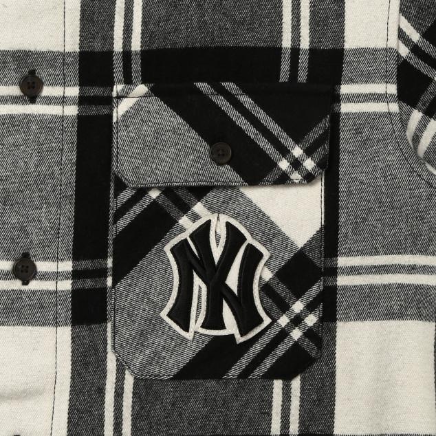 포켓로고 체크셔츠 뉴욕양키스
