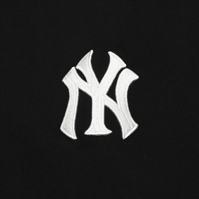 기모 베이직 로고 오버핏 맨투맨 뉴욕양키스