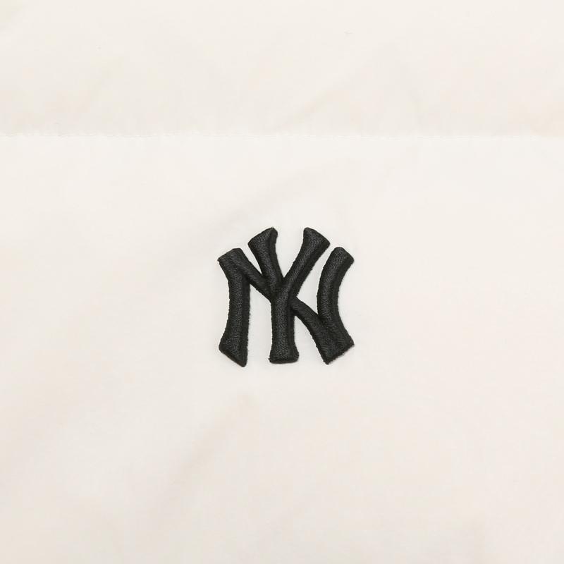 엠엘비(MLB) 메가로고 덕다운 숏패딩 NY (IVORY)