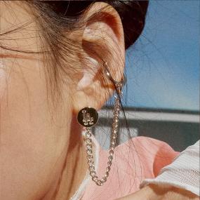 미니로고 이어커프 싱글 귀걸이 LA다저스