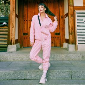 여성 크레용 모노그램 우븐팬츠 (셋업) LA다저스