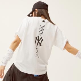 씸볼 버티칼 오버핏 반팔 티셔츠 뉴욕양키스
