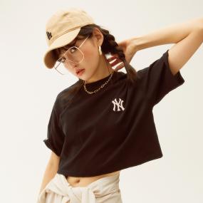 여성 크롭 오버핏 반팔티 뉴욕양키스