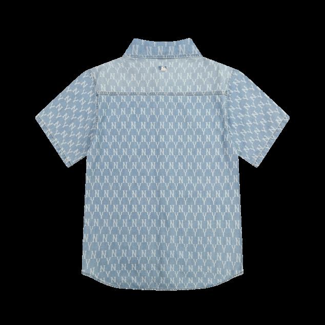 모노그램 프린트 반팔 데님셔츠 뉴욕양키스