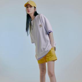 로고 베이직 와펜 오버핏 반팔 티셔츠 뉴욕양키스
