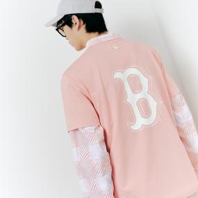 베이직 백 빅로고 반팔 티셔츠 보스턴 레드삭스