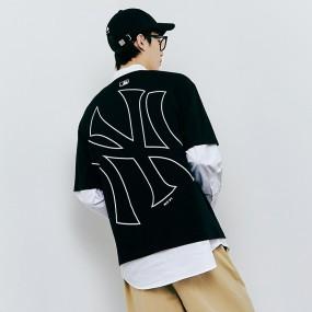 메가로고 오버핏 반팔 티셔츠 뉴욕양키스