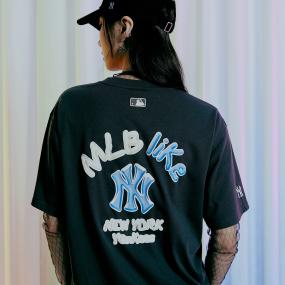 LIKE 오버핏 반팔 티셔츠 뉴욕양키스
