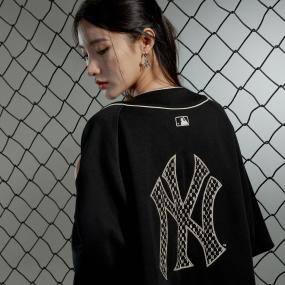 클래식 모노그램 백로고 베이스볼 셔츠 뉴욕양키스