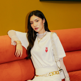 하트 오버핏 반팔 티셔츠 뉴욕양키스