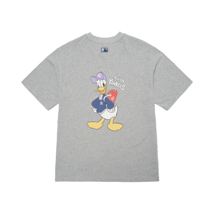 MLB x Disney 도널드덕 백 프린트 오버핏 티셔츠 뉴욕양키스