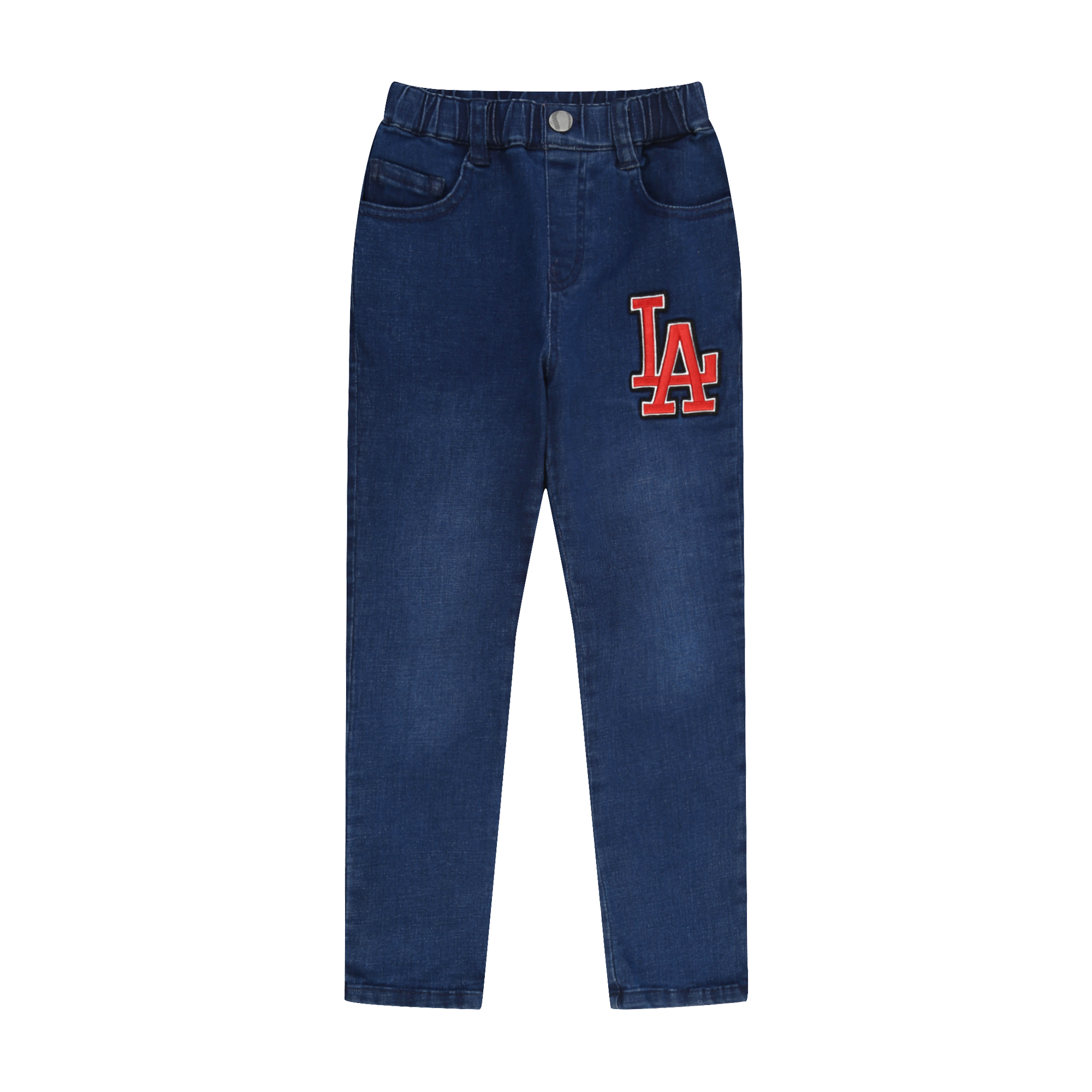 LA DODGERS UNISEX BIG LOGO DENIM PANTS