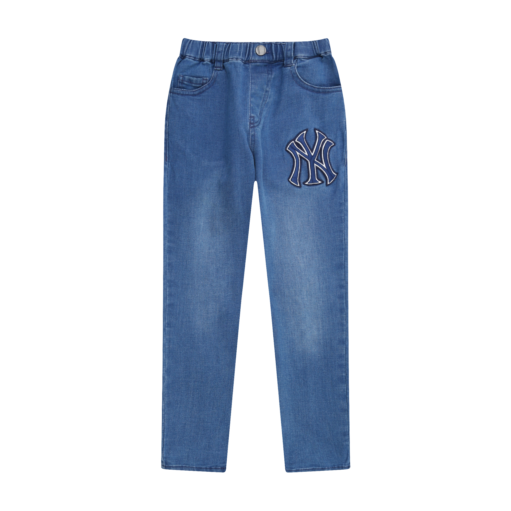 NEW YORK YANKEES UNISEX BIG LOGO DENIM PANTS