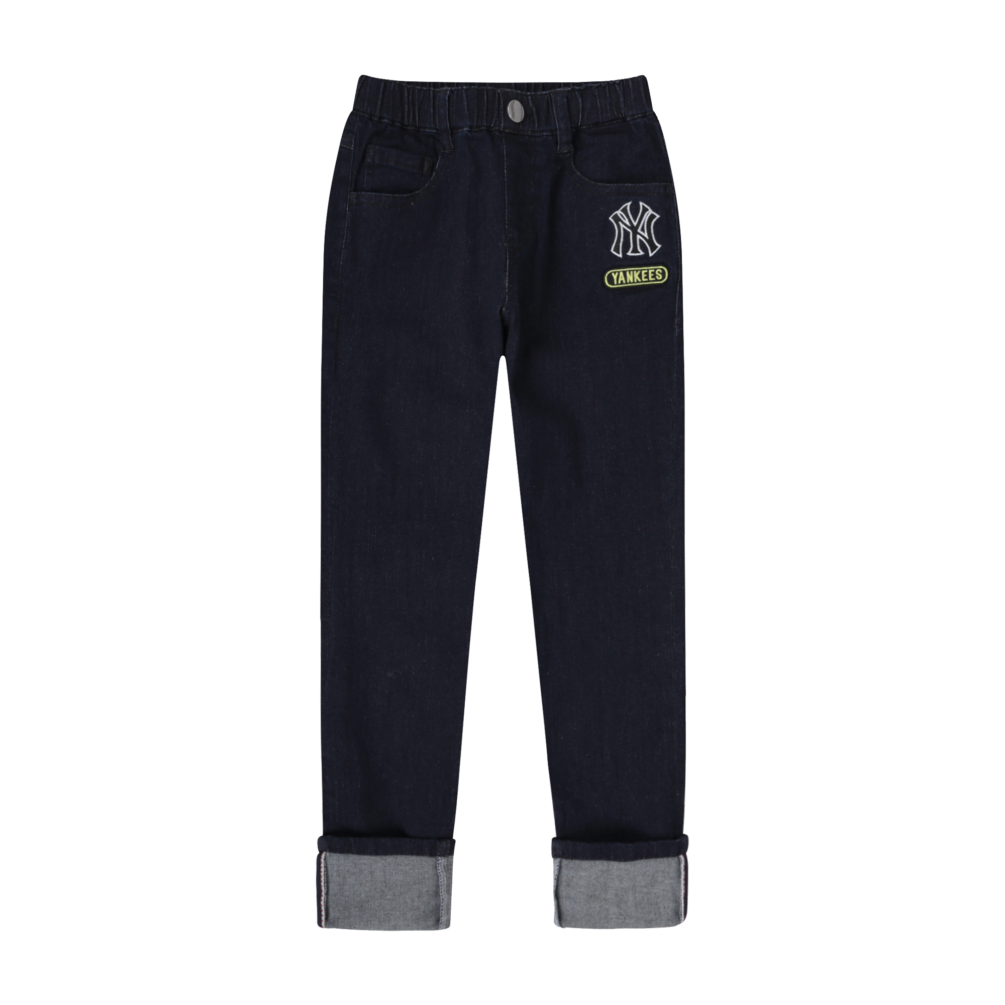 NEW YORK YANKEES UNISEX ROLL-UP DENIM PANTS