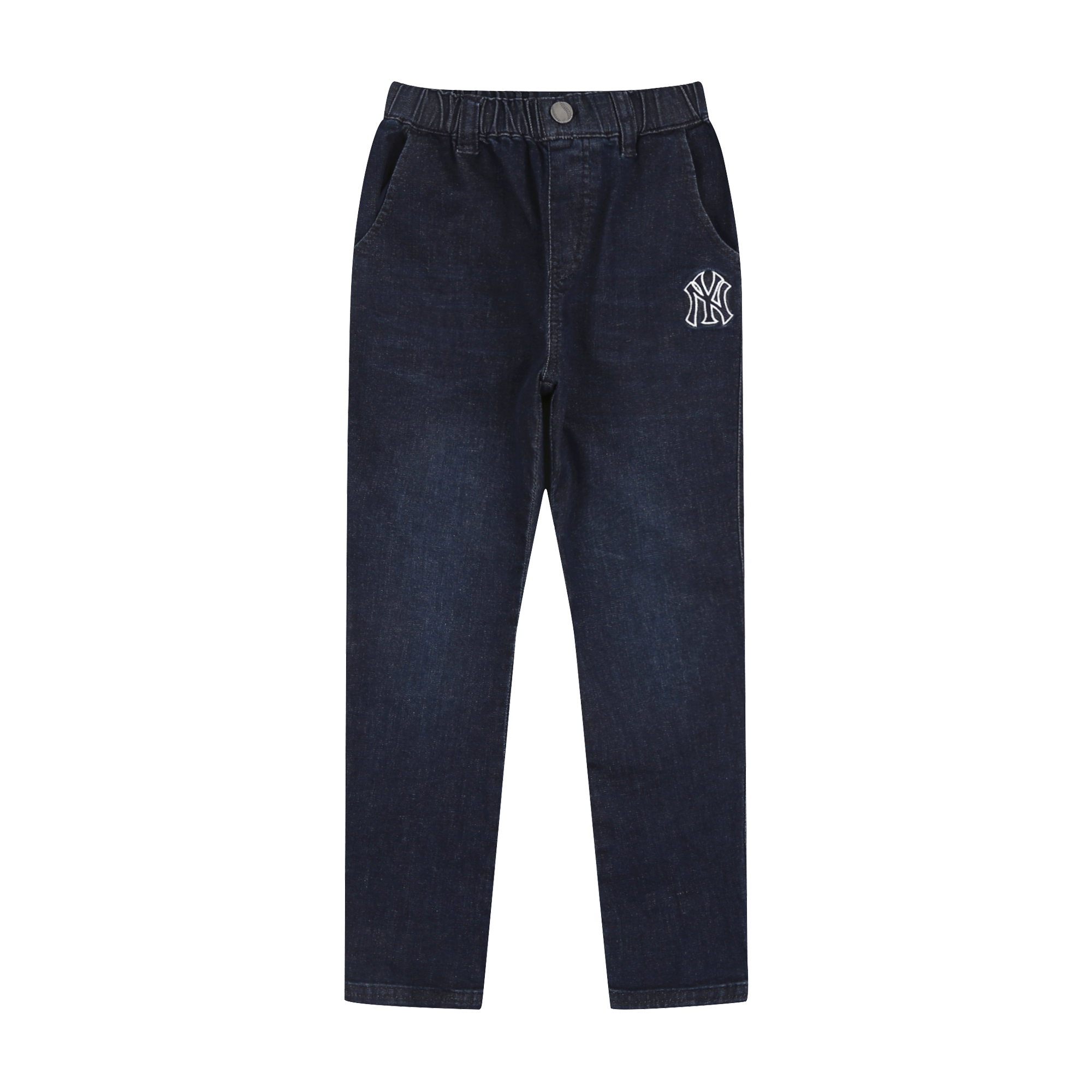 NEW YORK YANKEES UNISEX LOGO BAGGY FIT JOGGER DENIM PANTS