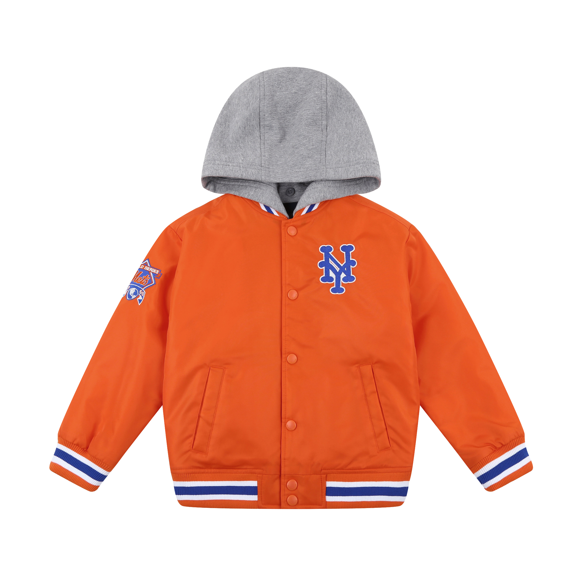 NEW YORK METS UNISEX COOPERS HIPSTER VARSITY JACKET