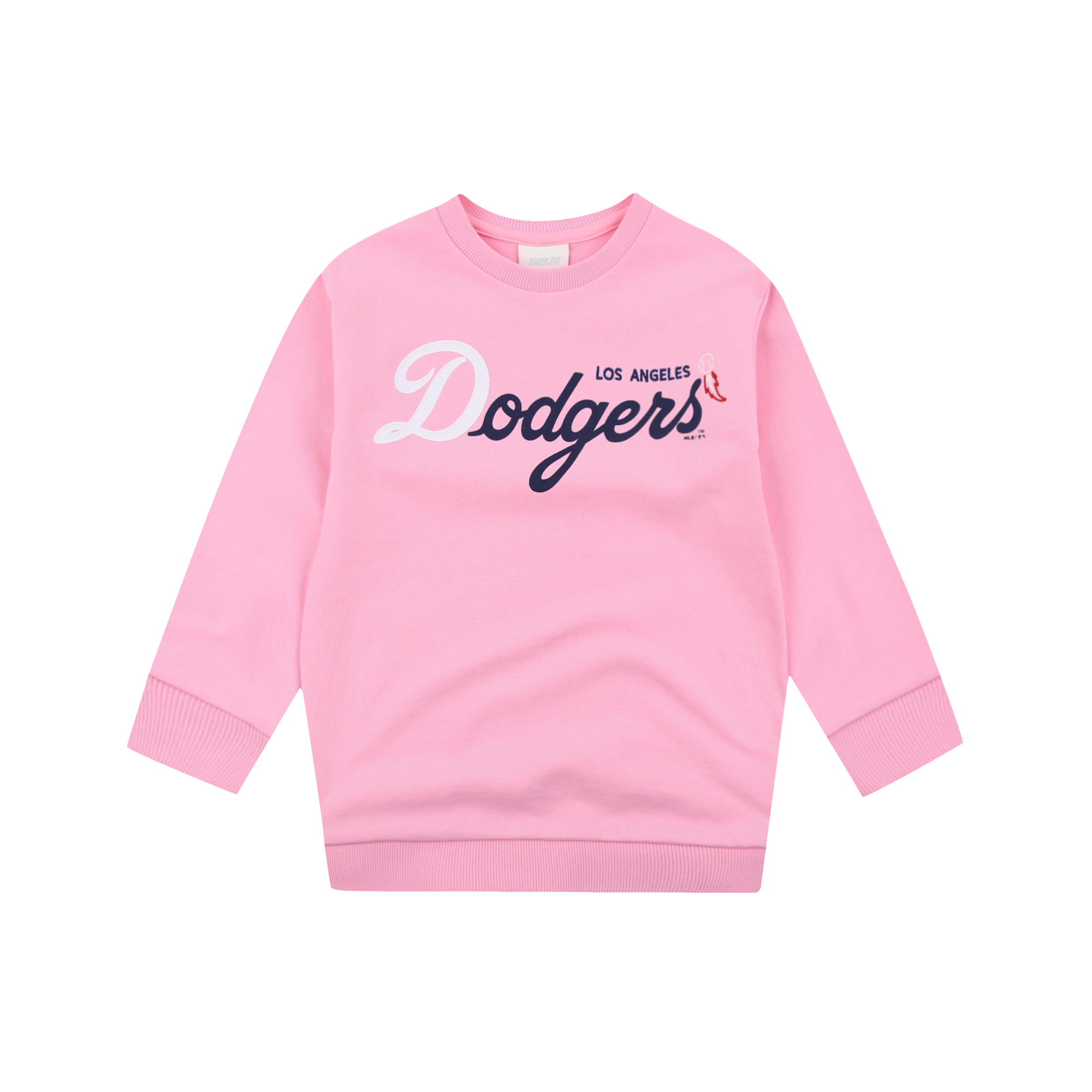 LA DODGERS GIRL'S MEGA CURSIVE LOGO OVER FIT SWEATSHIRT