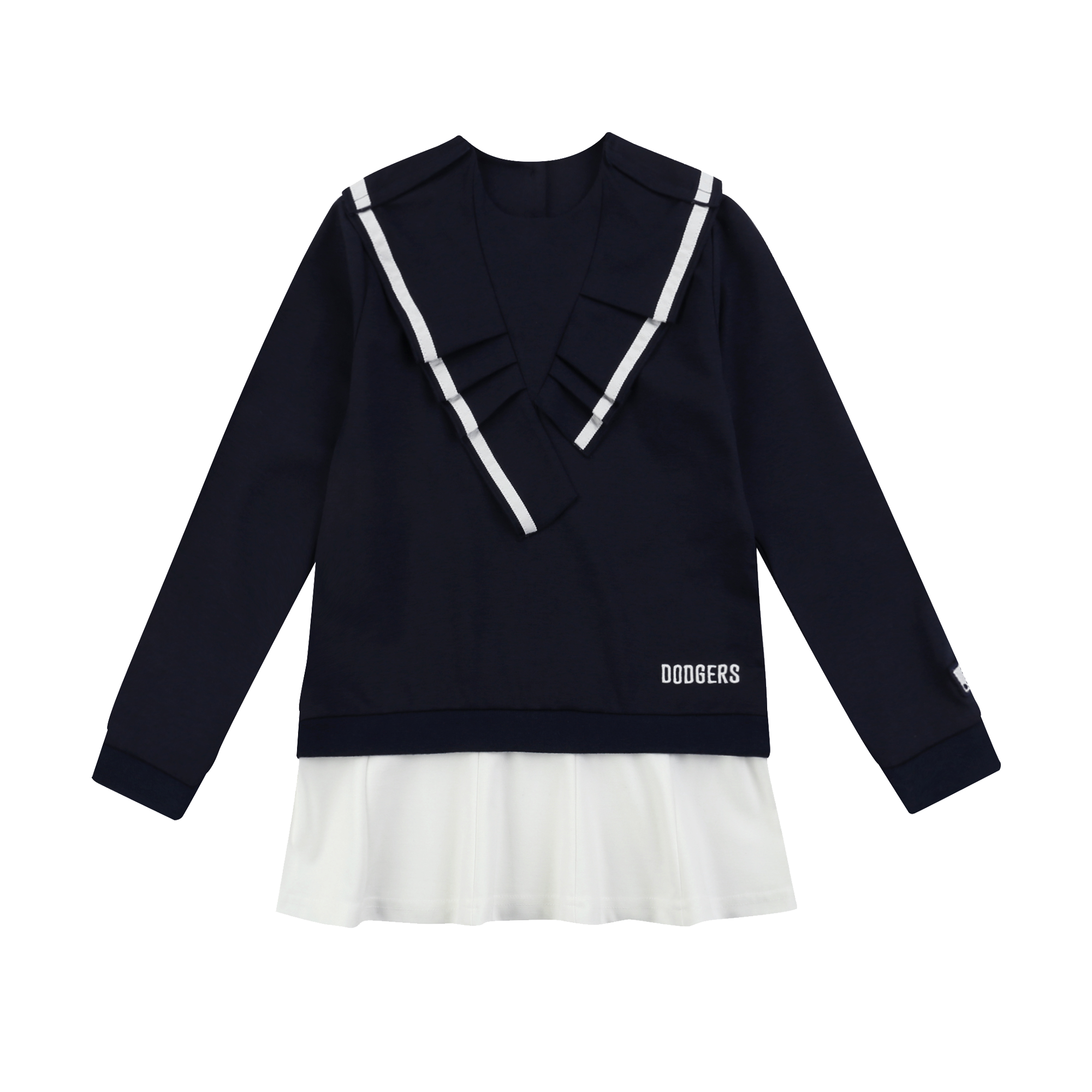 LA DODGERS GIRL'S RUFFLE DRESS