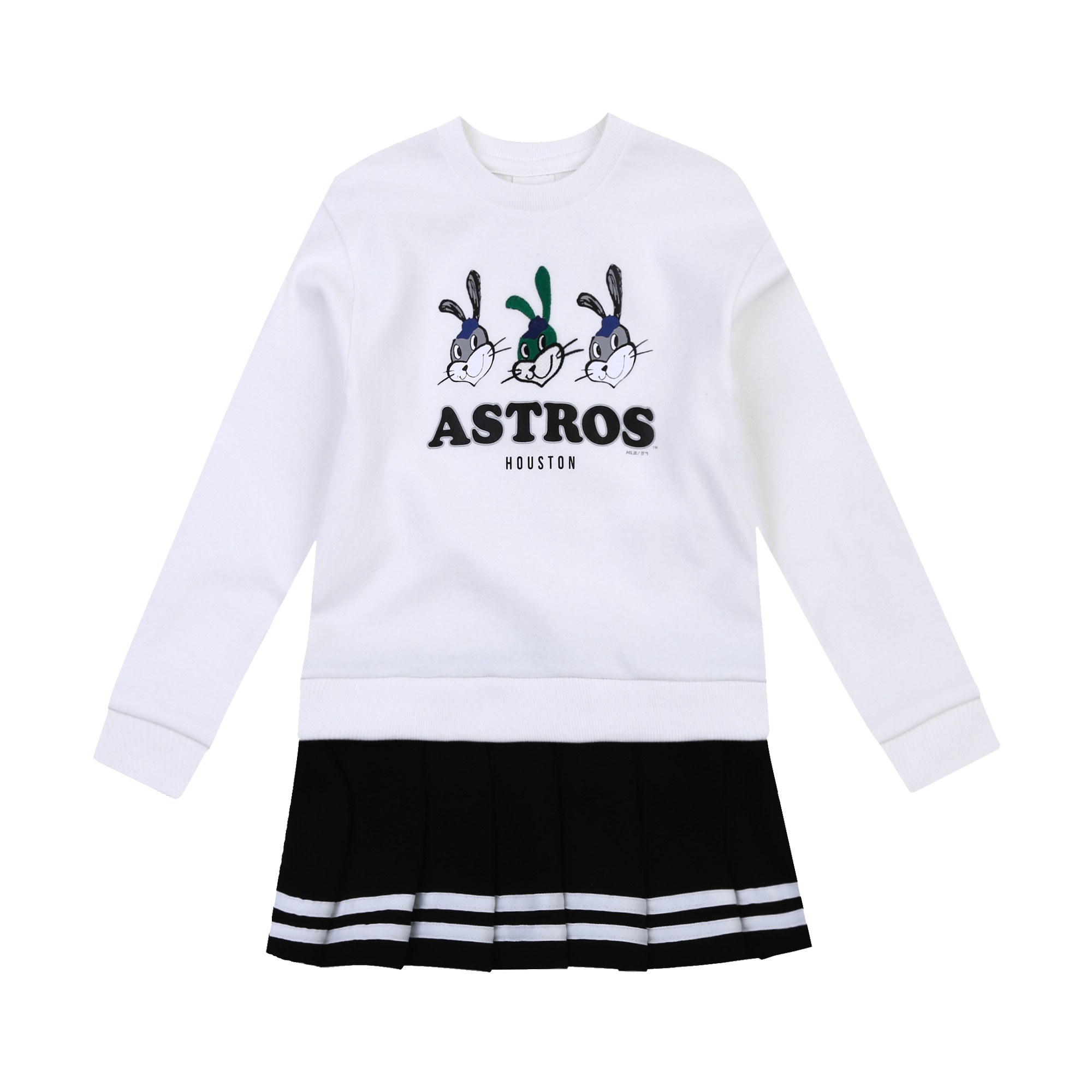 HOUSTON ASTROS GIRL'S ATTO PLEATS DRESS