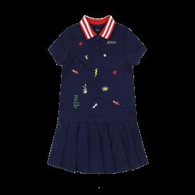 HOUSTON ASTROS GIRL'S ATTO EMBROIDERY COLLAR DRESS