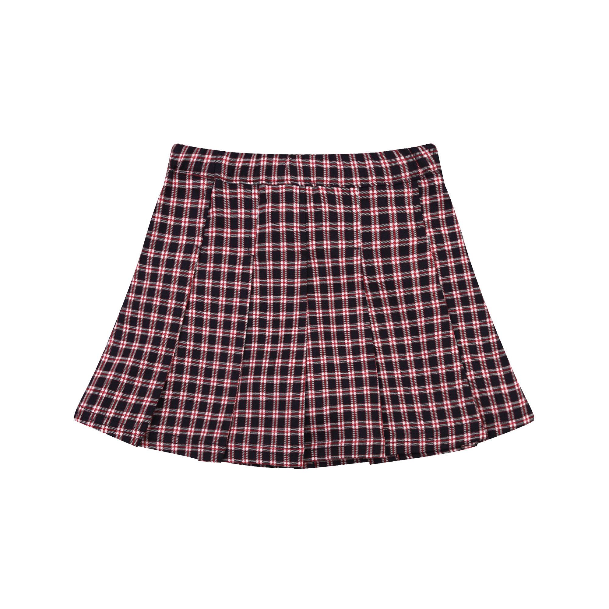 MLB GIRL'S CHECK PLEATS SKIRT