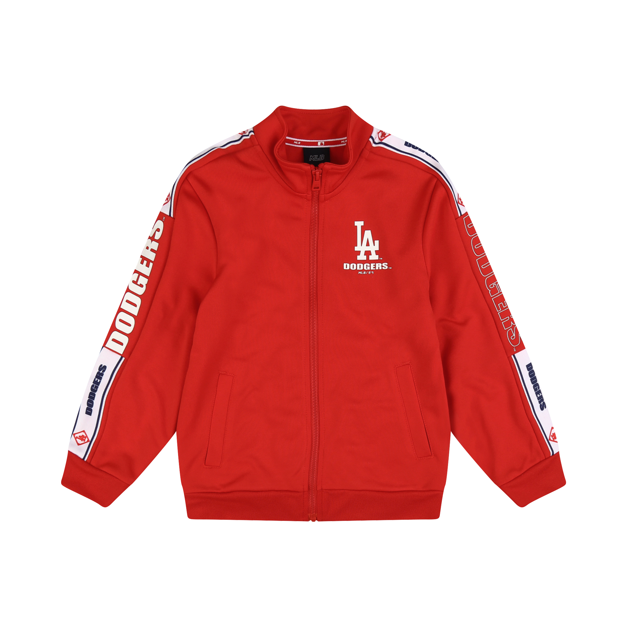 LA DODGERS UNISEX SLEEVE TAPE TRAINING ZIP-UP