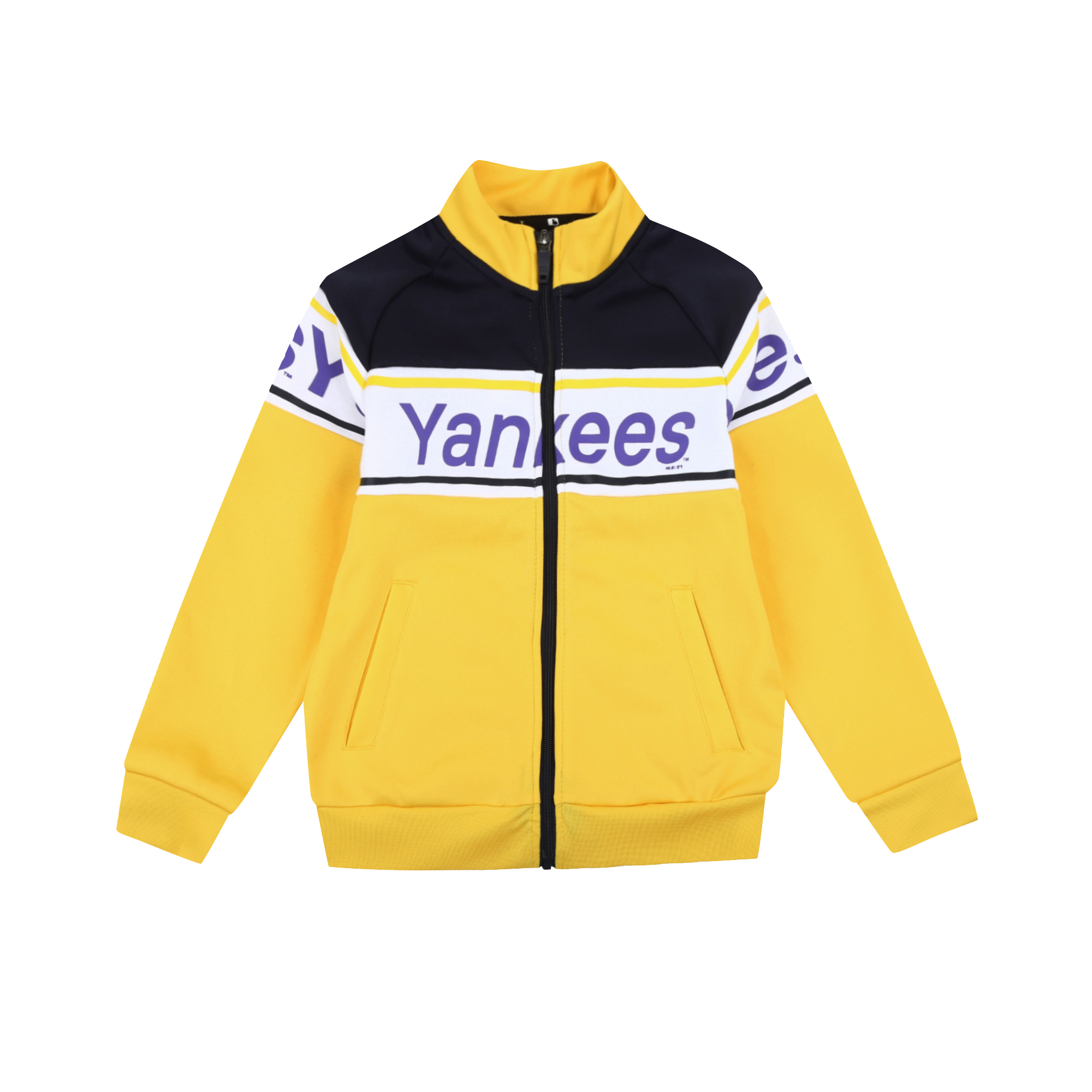 NEW YORK YANKEES CUT BICOLOR TRAINING ZIP-UP