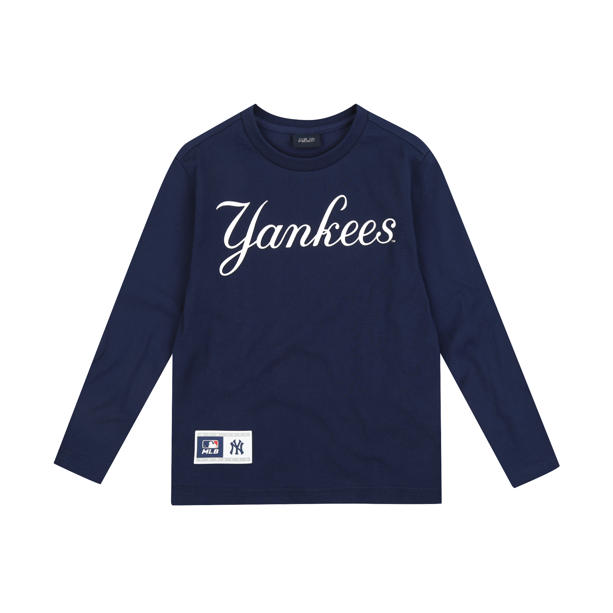 NEW YORK YANKEES UNISEX CURSIVE LOGO T-SHIRT