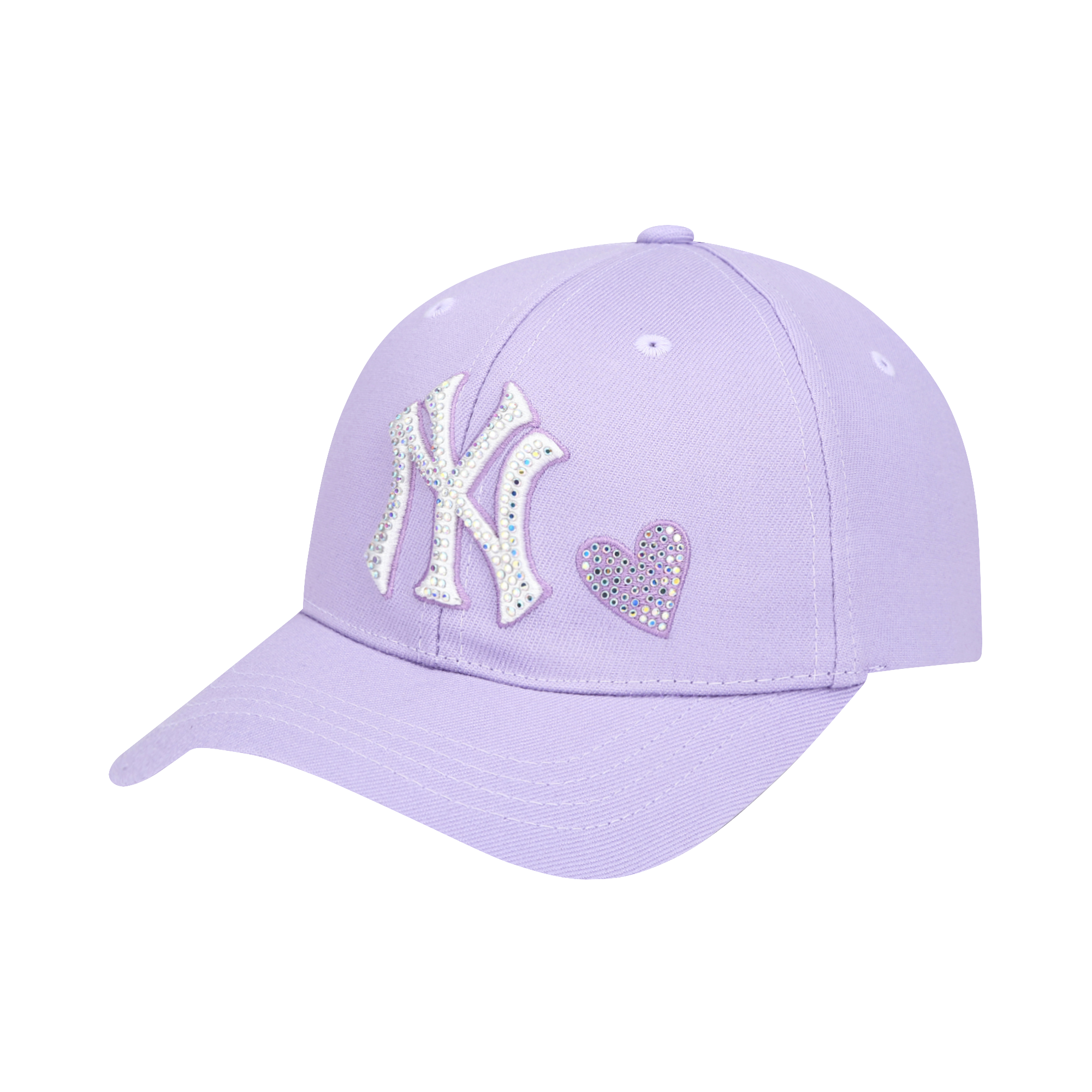 NEW YORK YANKEES SHINY HEART HOT-FIX CURVED CAP