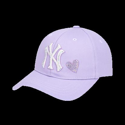 NEW YORK YANKEES SHINY HEART HOT-FIX CURVED CAP