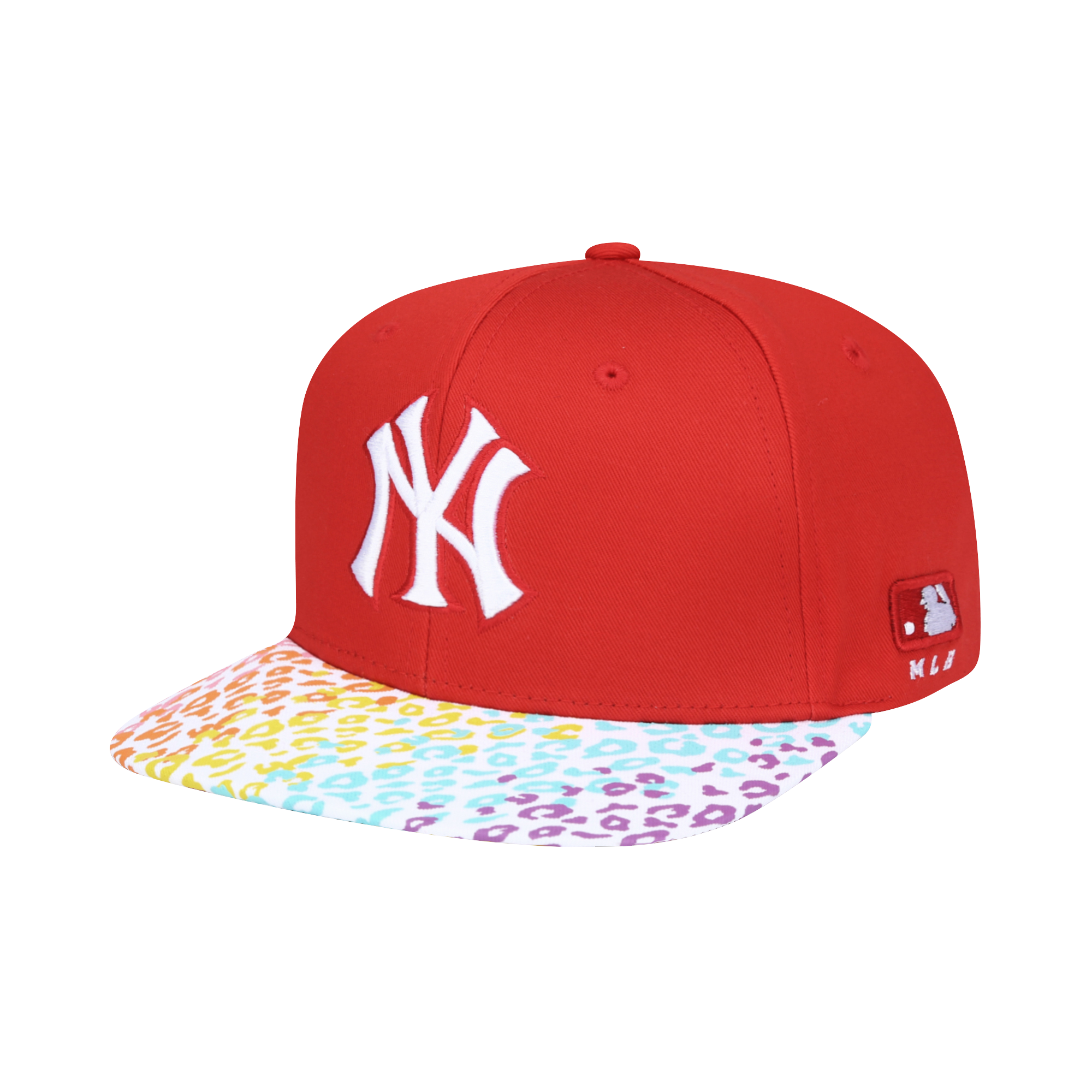 NEW YORK YANKEES RAINBOW DIAGONAL LEOPARD SNAPBACK