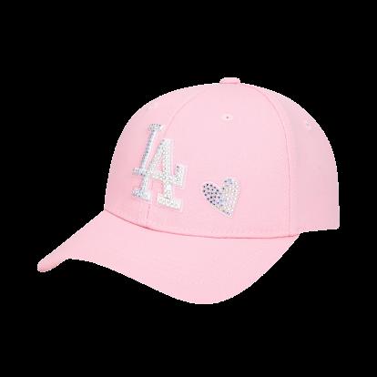 LA DODGERS SHINY HEART HOT-FIX CURVED CAP