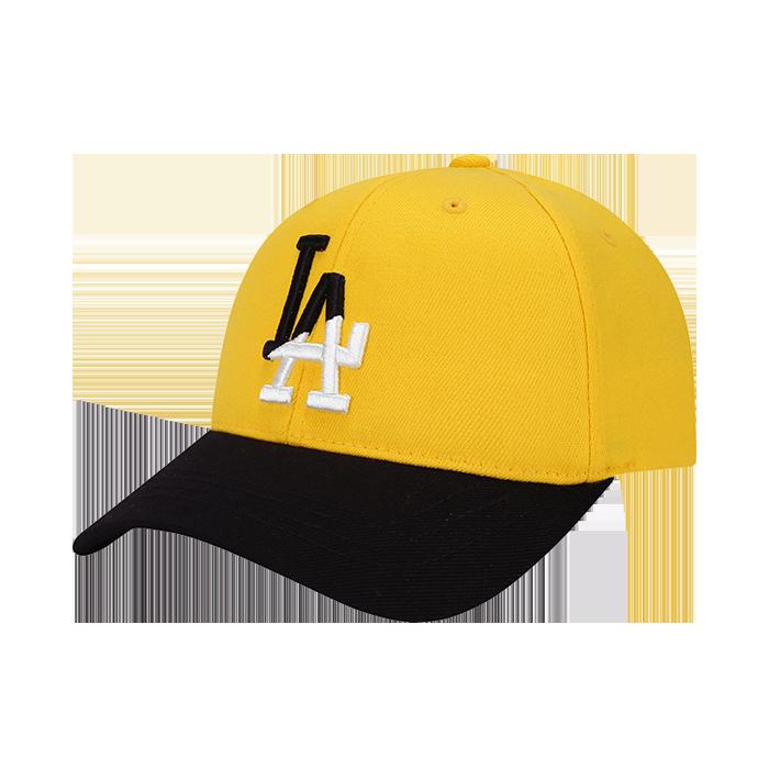 LA DODGERS LOGO DIAGONAL BICOLOR CURVE CAP
