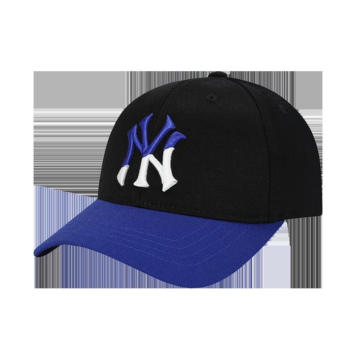 NEW YORK YANKEES LOGO DIAGONAL BICOLOR CURVE CAP