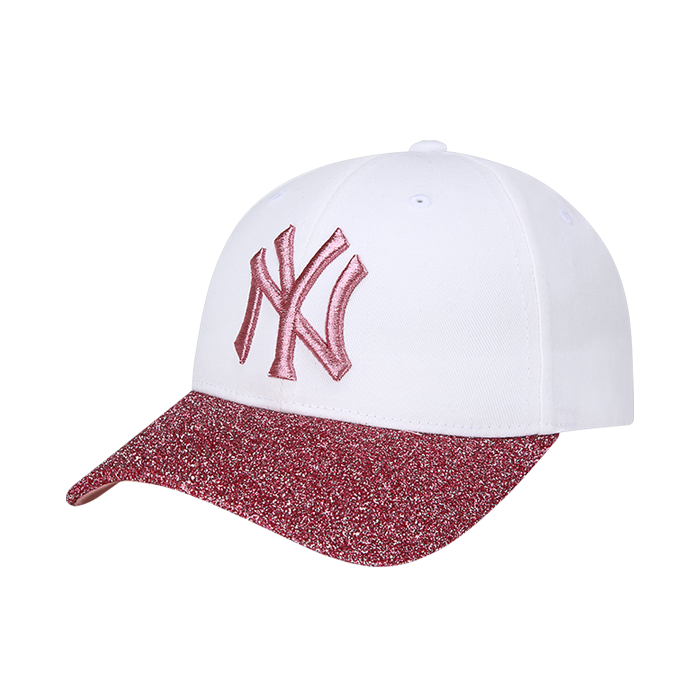 NEW YORK YANKEES GLITTER BRIM ADJUSTABLE CURVE CAP