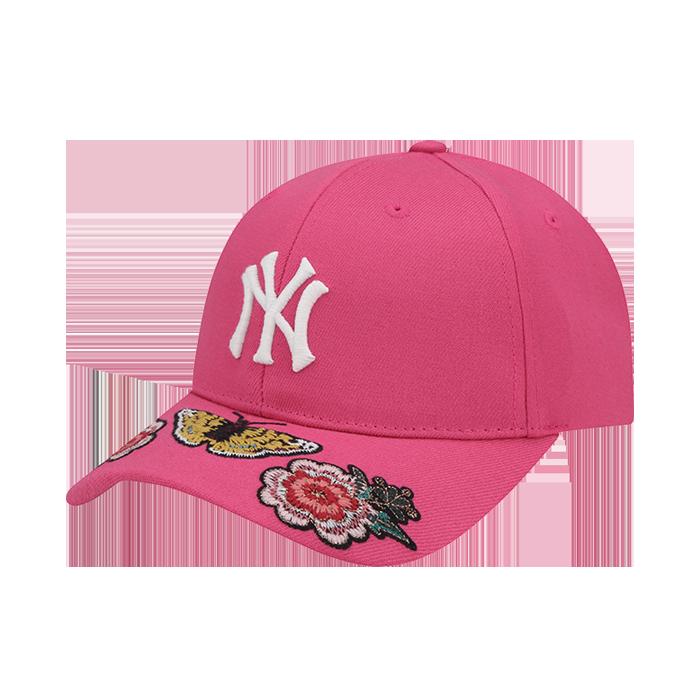 NEW YORK YANKEES FLOWER UPPER BRIM EMBROIDERY CURVE CAP